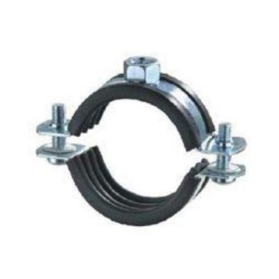 76mm Press Stainless Pipe Clamp 316 Rubber Lined