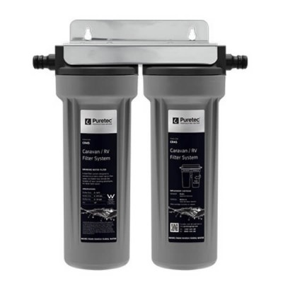 Puretec CR45 Caravan Water Filter Kit Twin Housing