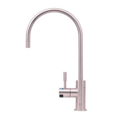 Puretec DFU240 Brushed Nickel Designer Water Filter Faucet With LED Reminder Light
