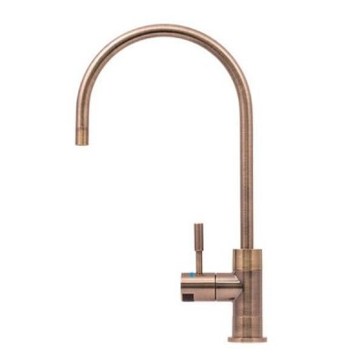 Puretec DFU270 Antique Brass Designer Water Filter Faucet With LED Reminder Light