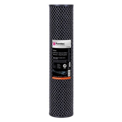 "Puretec DP10MP2 10 Micron Dual Purpose Carbon Water Filter Cartridge 4.5"" x 20"""