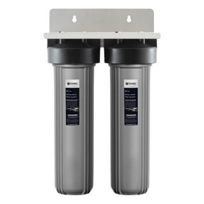 "Puretec EM2-100 Dual 20"" Whole House Rain & Mains Water Filter System"