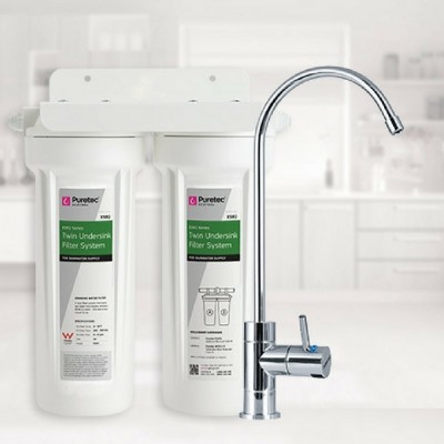 Puretec ES2 Undersink Rain Water Filter System High Loop LED Faucet