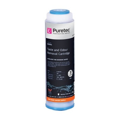 "Puretec GC051 5 Micron Granular Carbon Water Filter Cartridge 2.5"" x 10"""