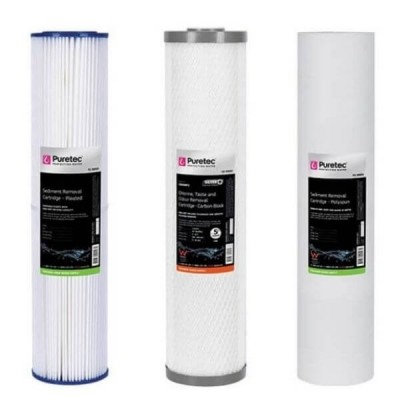 Puretec Hybrid G13 & R11 Triple Filter Cartridge Kit PL05MP2 - CB05MP2 - PX01MP2 20""