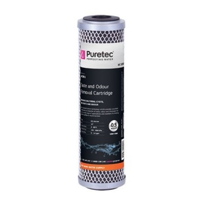 "Puretec MC951 Moulded Carbon 0.5 Micron Water Filter Cartridge 2.5"" x 10"""