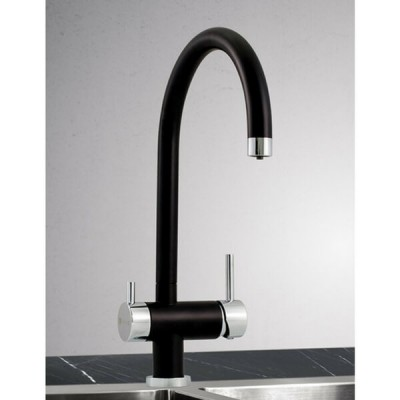 Puretec QT12-BL1 Matt Black & Chrome Undersink Water Filter With Tripla 3 Way Tap