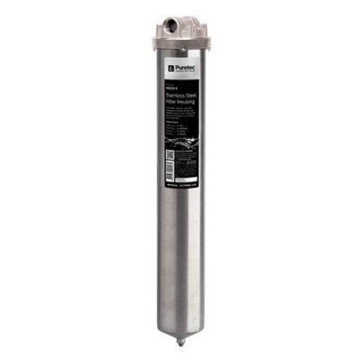 "Puretec SS225S 20"" Water Filter Housing Stainless Steel Bowl"