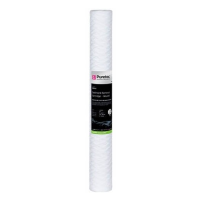 "Puretec WD012 Wound Sediment Water Filter Cartridge 2.5"" x 20"" 1 Micron"