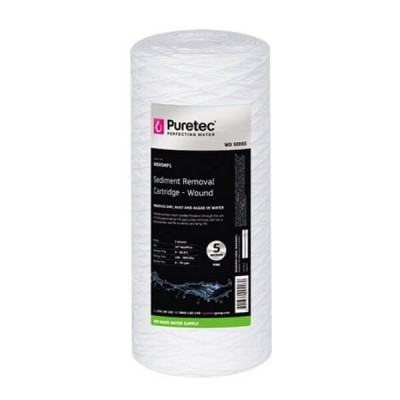 "Puretec WD05MP1 Wound Sediment Water Filter Cartridge 4.5"" x 10"" 5 Micron"