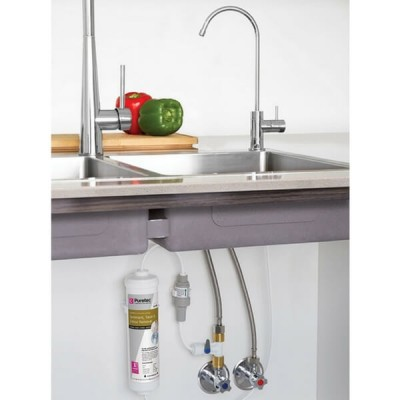 Puretec X4 Water Filter Kit Undersink With High Loop LED Outlet