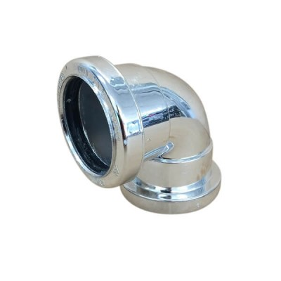 Push-Tec Elbow 50mm X 88 Degree Chrome PVC 17635
