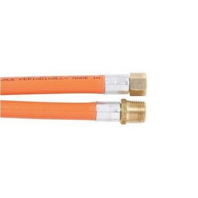 """900mm PVC LP Gas Hose 3/8"""" BSP Male X 1/4"""" BSP Female Cone 6HBB Class C"""