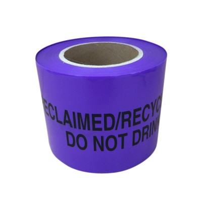 Reclaimed Waterline Tape 100mm X 100m Non Detectable