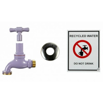 Recycled Lilac Hose Bib Kit 15mm