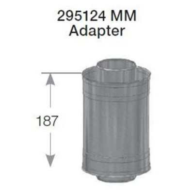 Rheem 27 Internal Flue Male Male Adaptor 295124