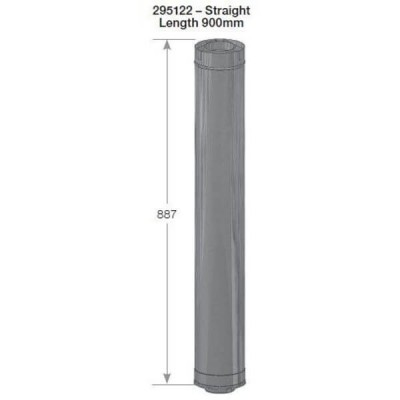 Rheem 27 Internal Flue Straight Length 900mm 295122