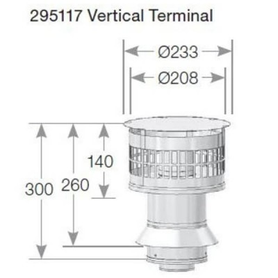 Rheem 27 Internal Flue Vertical Terminal 295117
