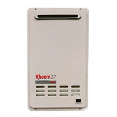 Rheem 27 Litre NATURAL GAS 50°C Continuous Flow Hot Water Heater 876627NF
