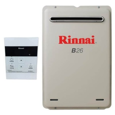 Rinnai B26 NATURAL GAS 50C B26N50A Builders Water Heater With Temperature Controller