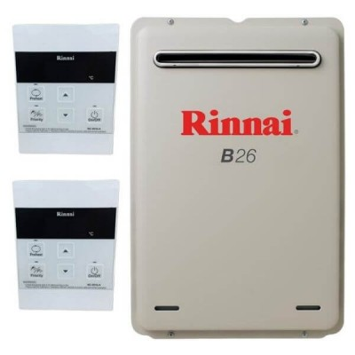 Rinnai B26 NATURAL GAS 50C B26N50A Builders Water Heater With 2 Temperature Controllers