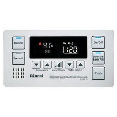 Rinnai Deluxe Bathroom Temperature Controller White BC100V1W