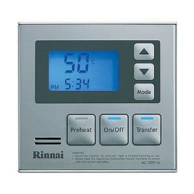 Rinnai Infinity Deluxe Kitchen Water Temperature Main Controller Silver MC100V1S
