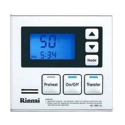 Rinnai Infinity Deluxe Kitchen Water Temperature Main Controller White MC100V1W