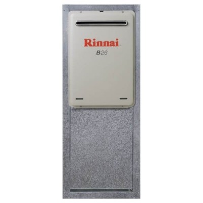 Rinnai Infinity RBOX04L Lockable Recess Box Zinc Steel Suits Builders Series