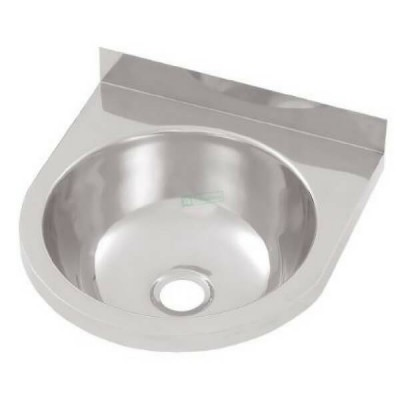 Round Wall Hand Basin 365mm Stainless Steel HBR