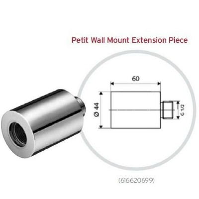 Schell Petit Wall Mounted Extension 60mm 616620699