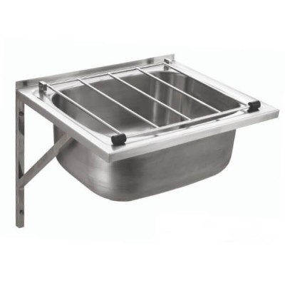 Spritz Cleaners Sink Stainless Steel With Grate & Brackets