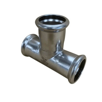35mm Tee Equal Press Stainless Steel