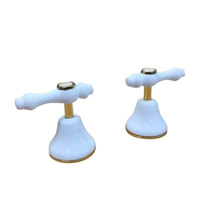 Traditions Lever Basin Top Assembly White Gold Ceramic Disc TL2608