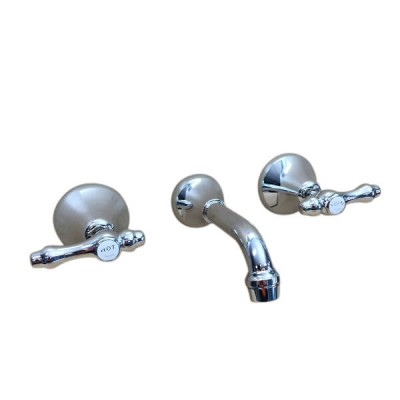 Traditions Lever Bath Set Chrome Ceramic Disc 150mm Fixed Outlet TL1384