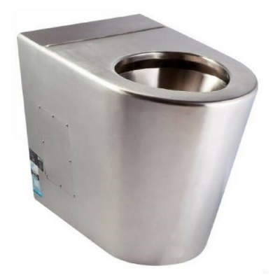 Wall Faced Ambulant Toilet Pan P Trap Stainless Steel WC-SSAP