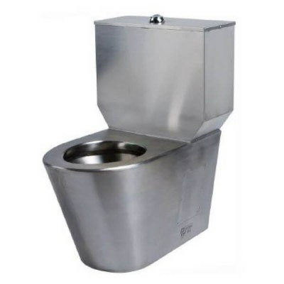 Wall Faced Toilet Suite Close Couple P Trap Stainless Steel WC-SSWFCCP