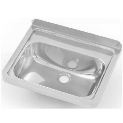 Wall Hand Basin 500mm No Tap Hole Stainless Steel HB-KIT