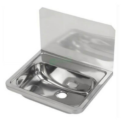 Wall Hand Basin 500mm No Tap Hole With Splashback HB300SB