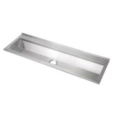 1500mm Wallsend Pattern Wash & Bubbler Trough Centre Outlet 304 Stainless Steel PT-7-1500