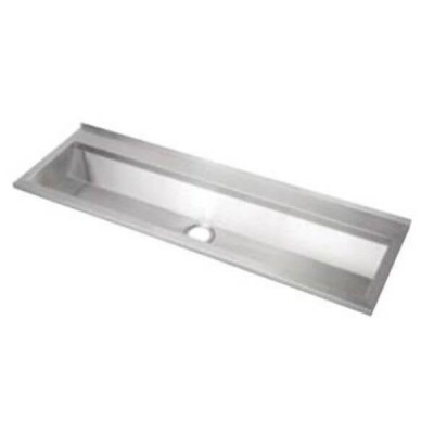 1800mm Wallsend Pattern Wash & Bubbler Trough Centre Outlet 304 Stainless Steel PT-7-1800