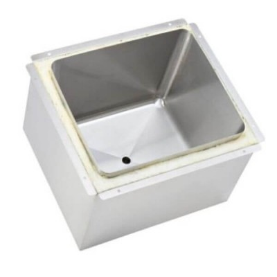 Weld In Insulated Ice Well 400mm x 350mm x 300mm Twin Skin 304 Stainless Steel ICE-403530