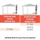 Braemar WF30/40 Wall Furnace Flue Kit Options