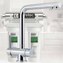 Puretec ESR2 T6 Tripla Twin Cartridge Ultraviolet Rain Water Filter Undersink 3 Way LED Mixer Tap