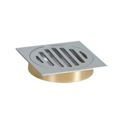 100mm Shower Floor Grate Cp Square Drop In Suit Hdpe