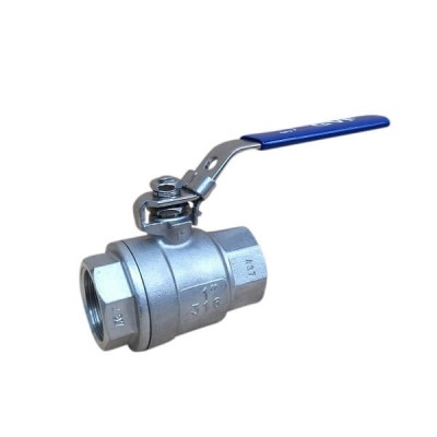 "10mm 3/8"" 2 Piece Lever Ball Valve 316 Stainless Steel F&F"