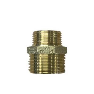 """10mm 3/8"""" X 3mm 1/8"""" Brass Hex Nipple BSP"""