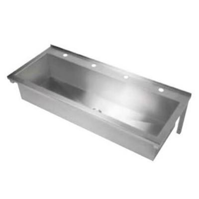 1200mm Pattern 4 Wash & Bubbler Trough Centre Outlet 304 Stainless Steel PT-4-1200
