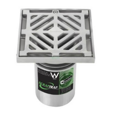 150mm Square Floor Waste With Bucket Trap Stainless Steel 304 FW-150BS