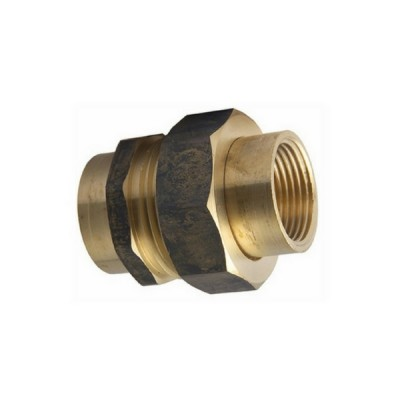 "15mm 1/2"" Brass Barrel Union F&F"